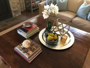 Styling a Large Coffee Table