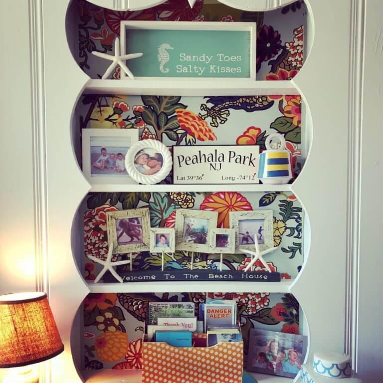 Beach House Bookshelf Styling