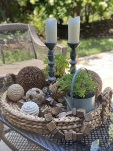 Patio Coffee Table Styling